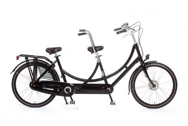 Azor Tandem Bicycle Short High Glosse Black - Amsterdam Bicycle Company