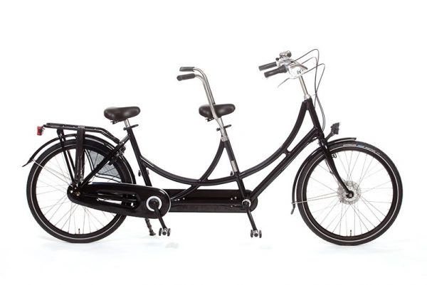 Azor Tandem Bicycle Short High Glosse Black - Amsterdam Bicycle Company