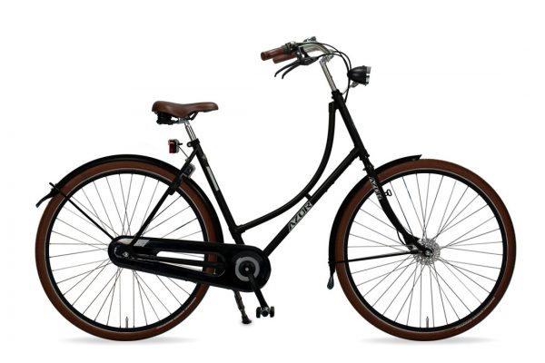 Azor Terschelling Ladies High Gloss Black - Amsterdam Bicycle Company