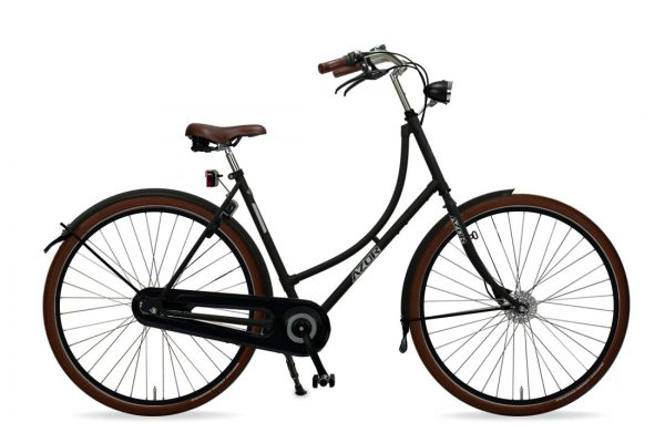 Azor Terschelling Ladies Matte Black - Amsterdam Bicycle Company