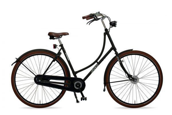 Azor Terschelling Ladies Matte Black - Amsterdam Bicycle Company