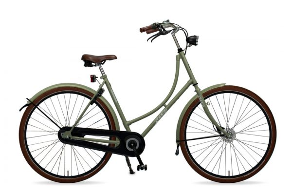 Azor Terschelling Ladies Olive Green Matte - Amsterdam Bicycle Company