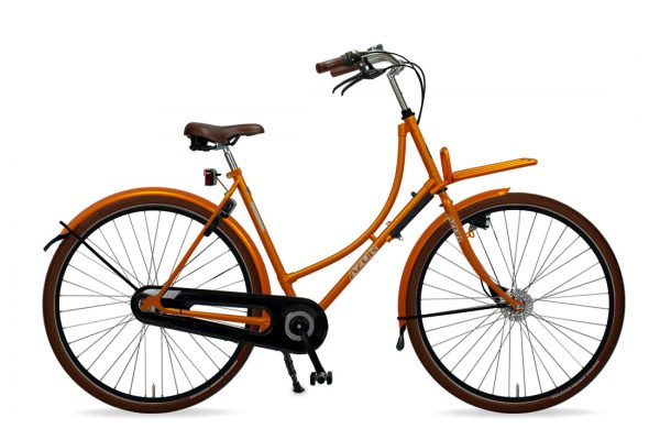Azor Terschelling Ladies Sunset Orange Gloss - Amsterdam Bicycle Company