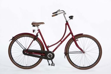 Azor Terschelling Ladies Dark Red Matte - Dutch Clean Bicycle - Amsterdam Bicycle Company