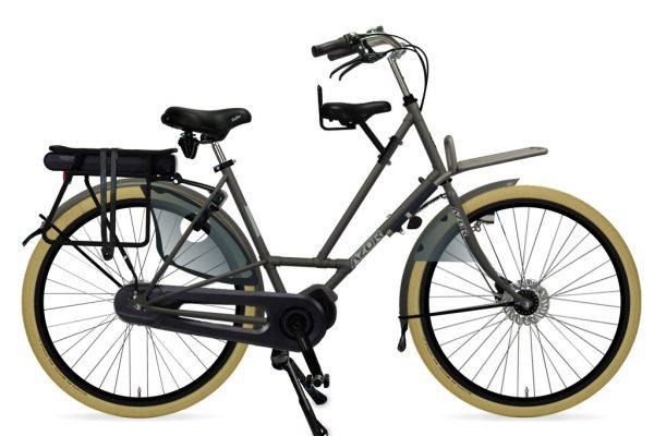 Azor Texel E-Bike Ladies Granite Grey Matte 2021 - Amsterdam Bicycle Company