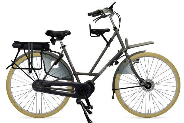 Azor Texel E-Bike Ladies Granite Grey Matte - Amsterdam Bicycle Company