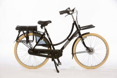 Azor Texel E-Bike Ladies High Gloss Black - Strong Dutch E-Bike - Amsterdam Bicycle Company