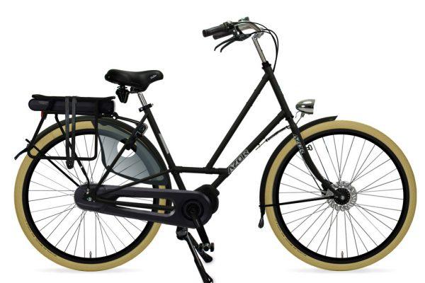 Azor Texel E-Bike Ladies Matte Black 2021 - Amsterdam Bicycle Company