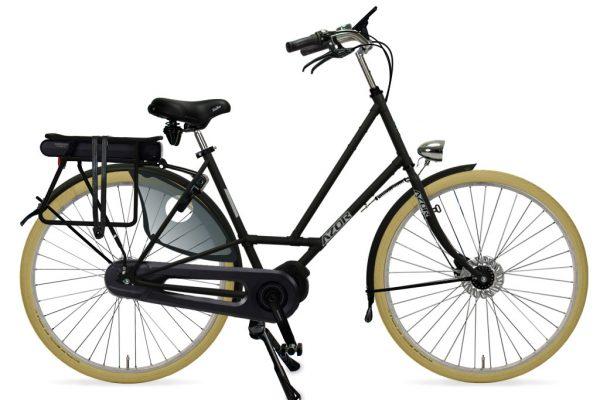 Azor Texel E-Bike Ladies Matte Black - Amsterdam Bicycle Company