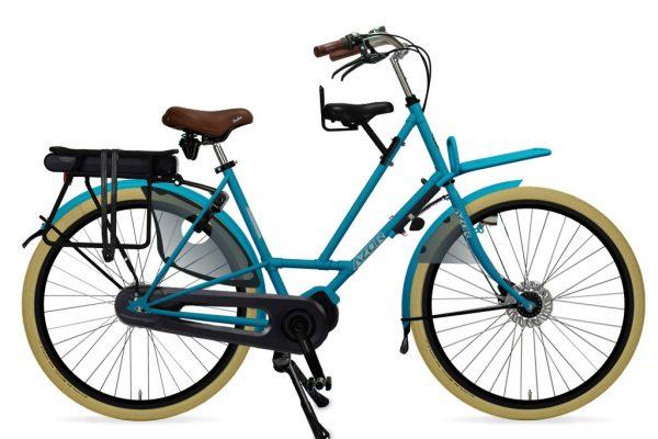 Azor Texel E-Bike Ladies Pearl Blue Matte 2021 - Amsterdam Bicycle Company