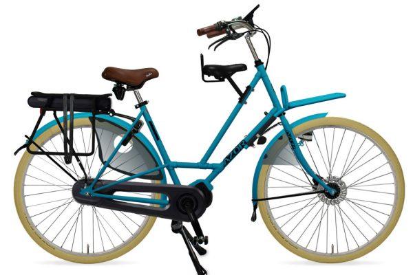 Azor Texel E-Bike Ladies Pearl Blue Matte - Amsterdam Bicycle Company