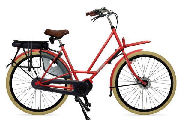 Azor Texel E-Bike Ladies Sparkle Red Gloss 2021 - Amsterdam Bicycle Company