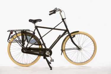 Azor Texel Gents Black Matte - Extra strong Dutch Bicycle - Amsterdam Bicycle Company