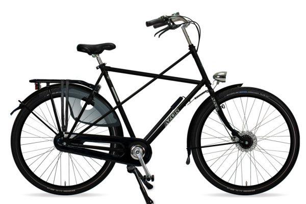 Azor Texel Gents High Gloss Black 2021 - Amsterdam Bicycle Company