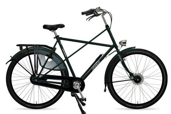 Azor Texel Gents Moss Green Metallic Gloss 2021 - Amsterdam Bicycle Company