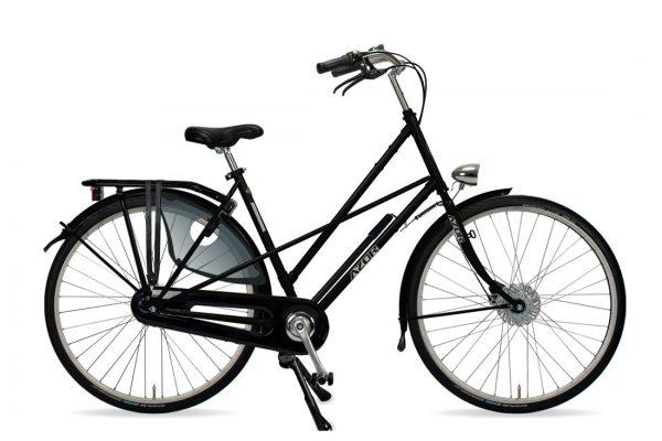 Azor Texel Ladies High Gloss Black - Amsterdam Bicycle Company