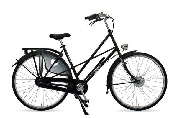 Azor Texel Ladies Matte Black - Amsterdam Bicycle Company