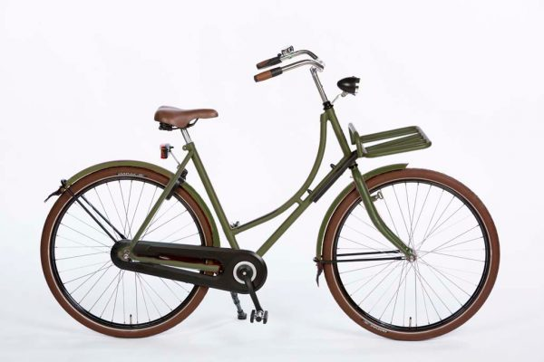 Azor Terschelling Ladies Olive Green Matte - Dutch Clean Bicycle - Amsterdam bicycle Company