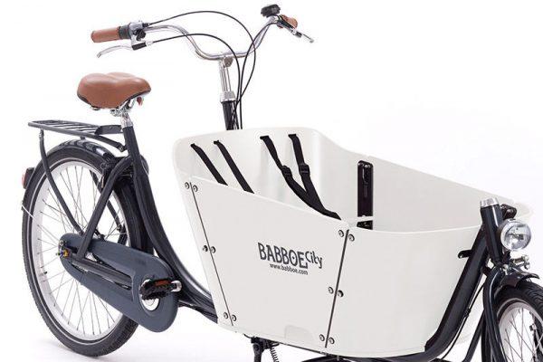 Babboe City Cargo Bike White Box - Amsterdam Bicycle Company