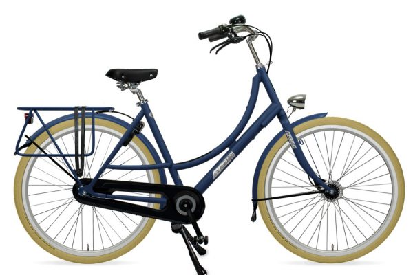 Bicycle with rear rack for child seats - Amsterdam Bicycle Company