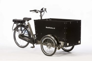 Black cargo box for Cargo Trike Wide - Amsterdam Bicycle Company