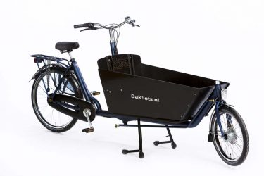Cargo Classic Long Denim Blue Matte - Classic Full-Size Cargo Bike - Amsterdam Bicycle Company