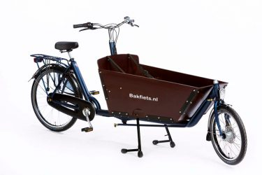 Cargo Classic Long Denim Blue Matte Bolted Box - Classic Full-Size Cargo Bike with Bolted Box