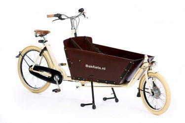 Cargo Cruiser Long Creme Gloss Bolted Box - Vintage Cargo Bike with Bolte Box