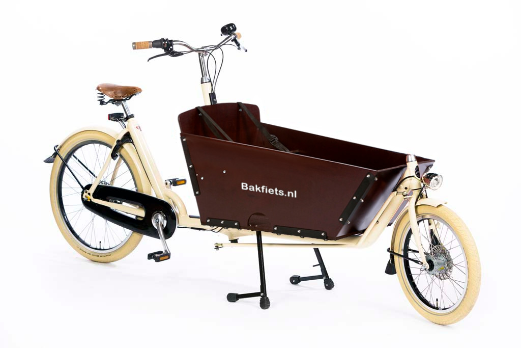 127827a2225 Vintage Cargo Bike with Bolted Box - Amsterdam Bicycle Company
