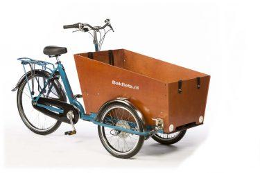 Cargo Trike Classic Narrow Pearl Blue Metallic Gloss - Amsterdam Bicycle Company