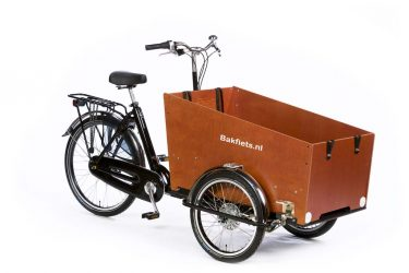 Cargo Trike Classic Wide High Gloss Black - Amsterdam Bicycle Company