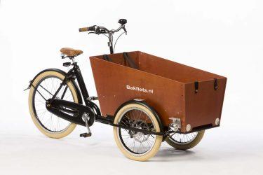 Cargo Trike Cruiser Narrow High Gloss Black Disk Brakes - Amsterdam Bicycle Company
