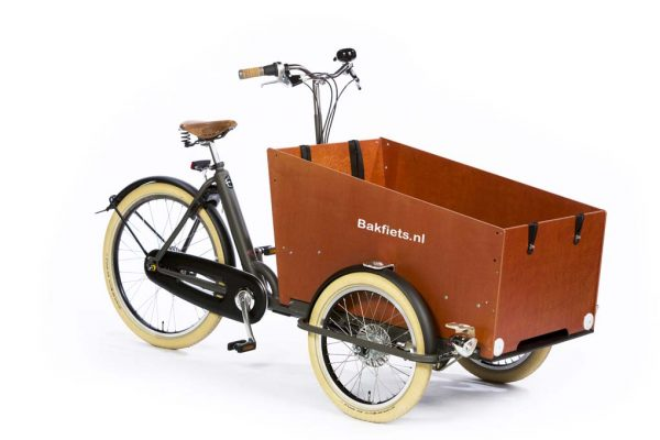 Vintage Full-Size Cargo Trike Cruiser Wide - Granite Grey Matte - Amsterdam Bicycle Company