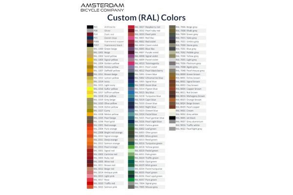Custom RAL Colors - Amsterdam Bicycle Company