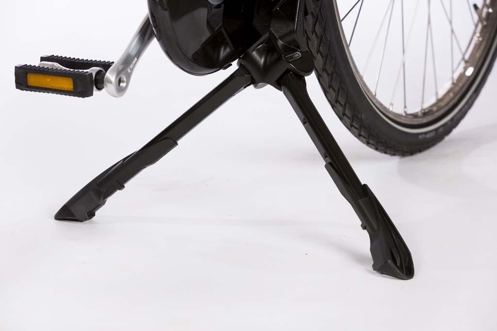 Fahrrad-Doppelst/änder H/öhenverstellbarer Kick Center Stand Bike Kickstand f/ür 26 Zoll Fahrrad Black MuGuang Bike Kickstand