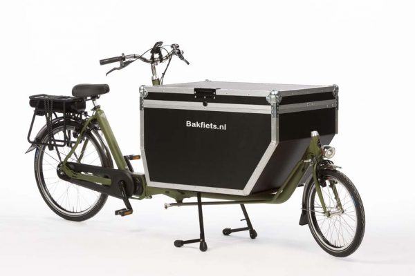 E-Cargo Business Olive Green Matte - Amsterdam Bicycle Company