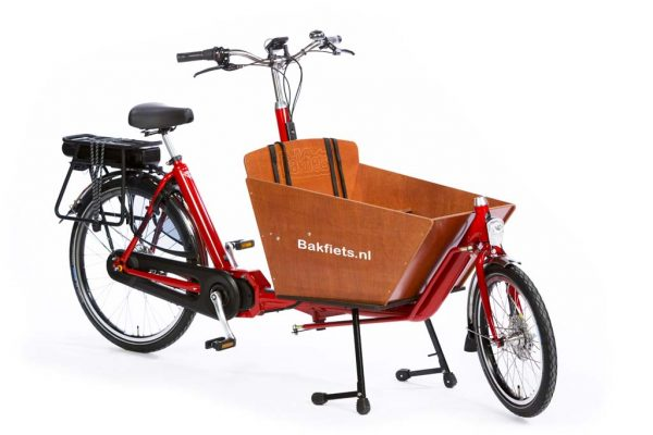 E-Cargo Classic Compact Bright Red - classic compact electric cargo bike