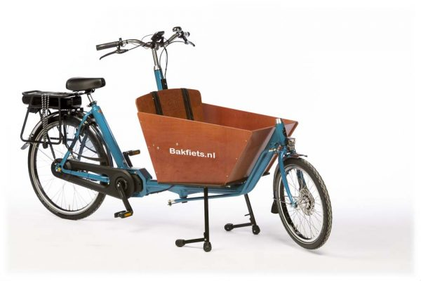 E-Cargo Classic Compact Pearl Blue Metallic Gloss - Amsterdam Bicycle Company