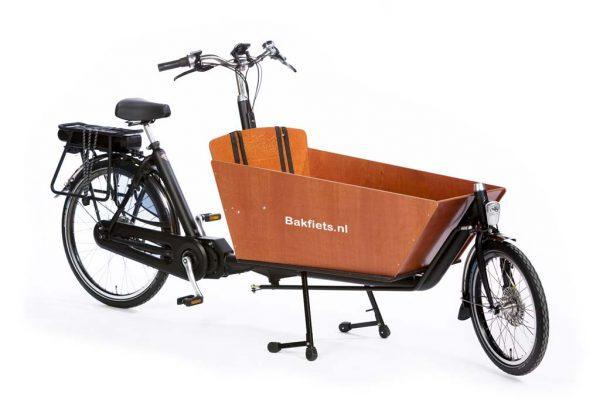 E-Cargo Classic Long Black Matte - classic full-size electric cargo bike