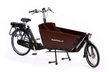 E-Cargo Classic Long Black Matte Bolted Box - Amsterdam Bicycle Company