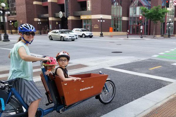 E-Cargo Classic Long Pearl Blue Metallic Glosse - Amsterdam Bicycle Company