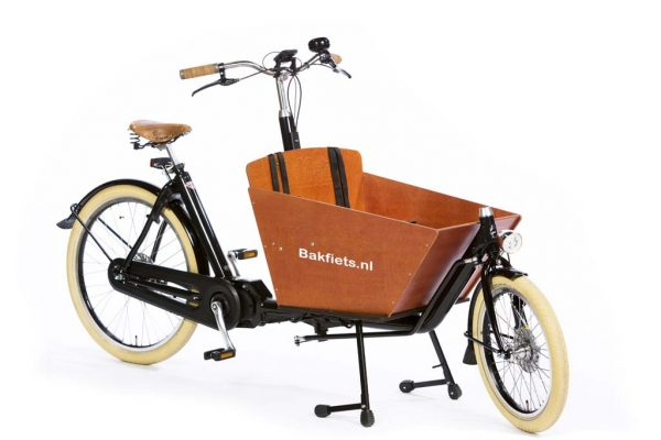 E-Cargo Cruiser Compact High Gloss Black - Premium Compact E-Cargo Bike