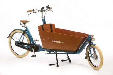 E-Cargo Cruiser Long Pearl Blue Metallic Gloss - premium full-size electric cargo bike