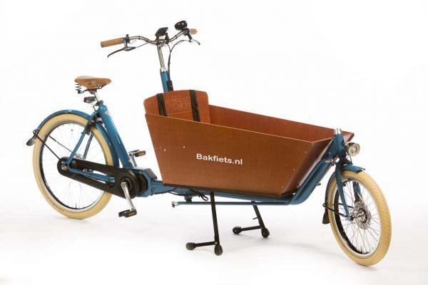 E-Cargo Cruiser Long Pearl Blue Metallic Gloss - premium full-size electric cargo bike