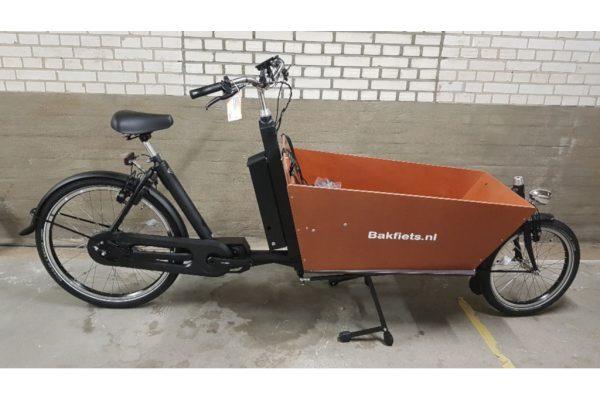 E-Cargo Cruiser Long Stock Matte Black 5-speed Auto Rim brakes - Amsterdam Bicycle Comapny