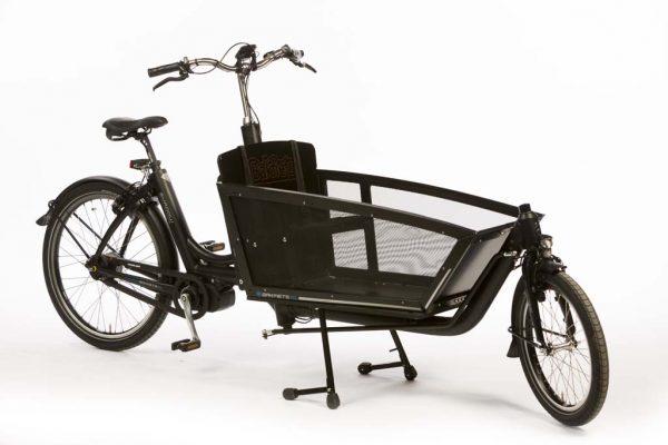 E-Cargo Shadow Matte Black - Lightweight Aluminum Electric Cargo Bike - Amsterdam Bicycle Company