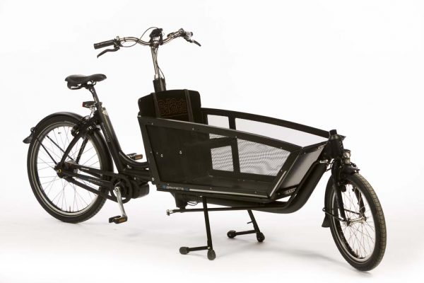 E-Cargo Shadow Matte Black - Lightweight Aluminum Electric Cargo Bike - Amsterdam Bicycle Company