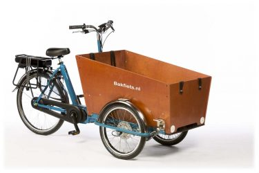 E-Cargo Trike Classic Narrow - Pearl Blue Metallic Gloss - Amsterdam Bicycle Company