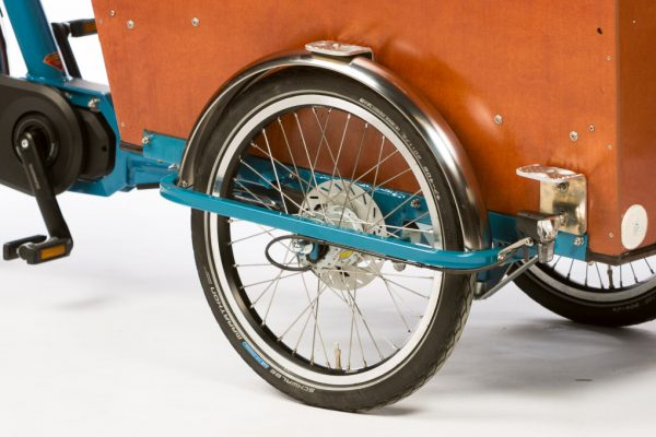 E-Cargo Trike Classic - Stainless Steel Fenders - Amsterdam Bicycle Company