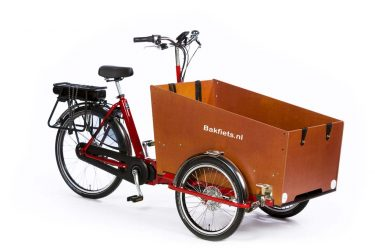 E-Cargo Trike Classic Wide - Bright Red Gloss - Amsterdam Bicycle Company